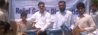 Shoes Distribution Among Flood Affectees Of Nowshera
