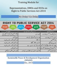 Training Module for Representatives, DMOs and DCOs on Right to Public Services Act-2014