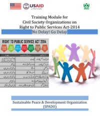 Training Module For Civil Society Organizations On Right To Public Services Act-2014