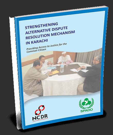 Strengthening Alternative Dispute Resolution Mechanism In Karachi - Booklet title