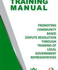 Training Manual for Local Government Representatives on Dispute Resolution