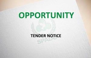 Tender Notice - Opportunity - SPADO Project Emergency Preparedness District Charsadda - 600x343