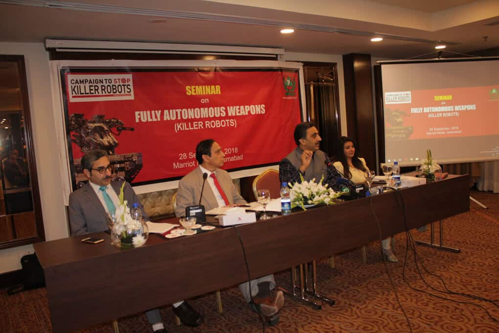 Ban Killer Robots before its too late, Ban Fully Autonomous Weapon Systems, a Seminar by SPADO at Islamabad