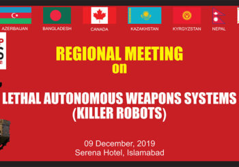 SPADO Pakistan Regional Meeting on Lethal Autonomous Weapons Systems (LAWs) Banner